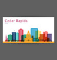 cedar rapids colorful architecture vector image vector image