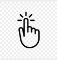 click finger hand press or push icon vector image