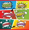 comic sound effect speech bubble pop art vector image vector image