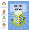 commercial real estate in town banner vector image