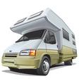 compact camper vector image vector image