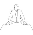 continuous one line businessman in suit vector image
