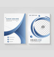 corporate document template design vector image vector image