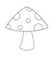 cute mushroom isolated icon vector image