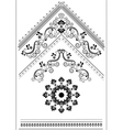 Decorative corner with an ornament for the page vector image vector image
