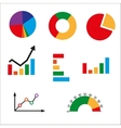 Different kinds of business charts vector image