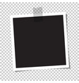 empty photo with a shadow is glued with tape vector image vector image