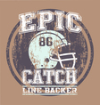 EPIC CATCH FOOTBALL vector image