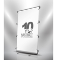 expanding banner stand vector image