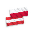 flags of austria and poland on a white background vector image