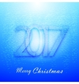 Gentle blue Christmas background with snow vector image