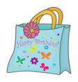 gift bag vector image vector image