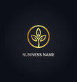 gold leaf seed nature logo vector image