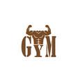 gym bodybuilding strong body muscles icon vector image