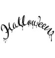 halloween black letter text for greeting card vector image vector image