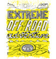 hand drawn offroad poster vector image