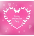 Heart of butterflies Valentines Card vector image vector image