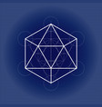 icosahedron from metatrons cube sacred geometry vector image