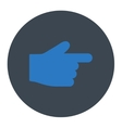 Index Finger flat smooth blue colors round button vector image vector image