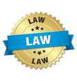 law round isolated gold badge vector image vector image