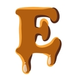 Letter E from caramel icon vector image