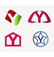 Letter y logo icon set vector image vector image