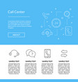 line call support center icons template vector image vector image