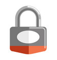 metal lock with shiny silver and red corpus vector image vector image