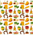 mexican traditional food with meat avocado vector image vector image