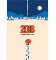 new year 2018 minimalistic vector image vector image