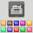 Newspaper icon sign Set with eleven colored vector image vector image