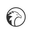of circle eagle logo concept vector image