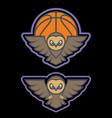 owl mascot logo design with modern vector image
