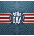 patriot day paper festive badge vector image vector image