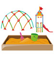 playstation with slide and sandpit vector image vector image