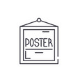 poster line icon concept poster linear vector image vector image