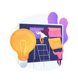 project planning abstract concept vector image vector image