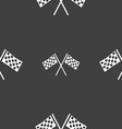 Race Flag Finish icon sign Seamless pattern on a vector image vector image