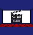 realistic cinema movie theater interior online vector image vector image