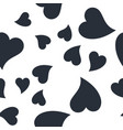 seamless patterns with black hearts seamless vector image vector image