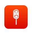 semaphore trafficlight icon digital red vector image vector image