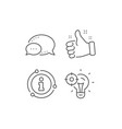 seo idea line icon web targeting sign traffic vector image vector image