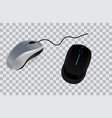 set computer mouse realistic or mouse vector image vector image