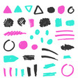 set grunge objects vector image
