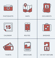 Set of Modern Thin Line Icons Photoshots Maps vector image