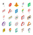 sign and symbols isometric pack vector image vector image