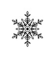 simple black freehand icon of a snowflake vector image vector image