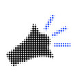 sound speaker halftone dotted icon vector image