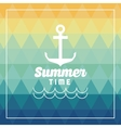 Summer design anchor icon polygon vector image vector image