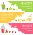 summer smoothie horizontal banners of various vector image vector image